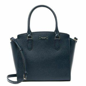 Kate Spade Jeanne Medium Leather Satchel Navy